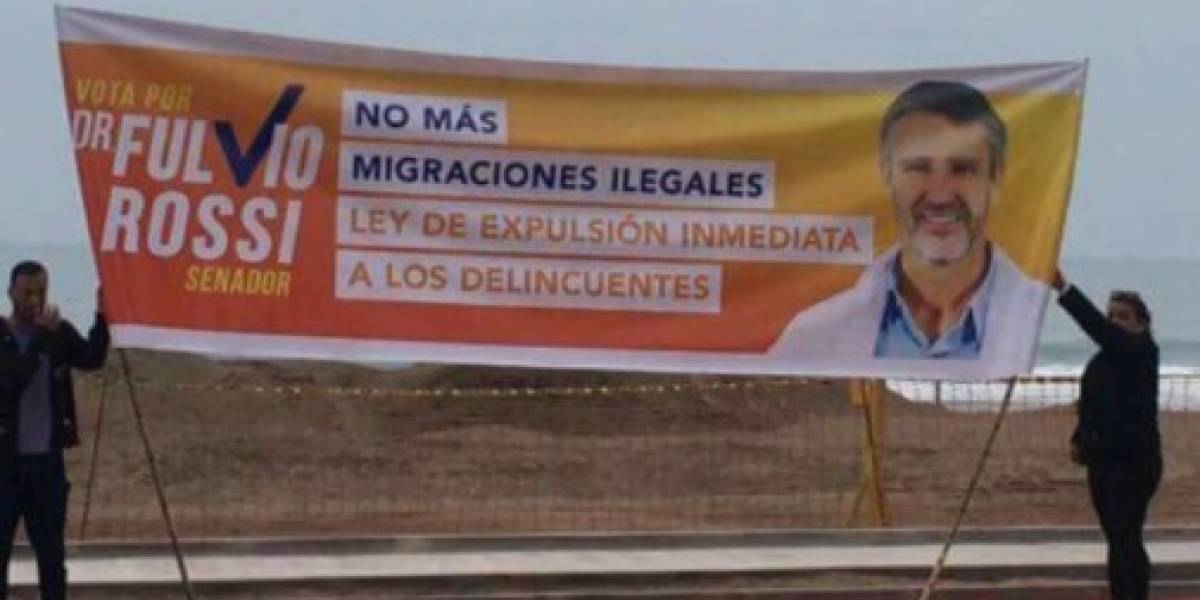 Rossi aclara que polémico lienzo contra la migración no es xenofobia