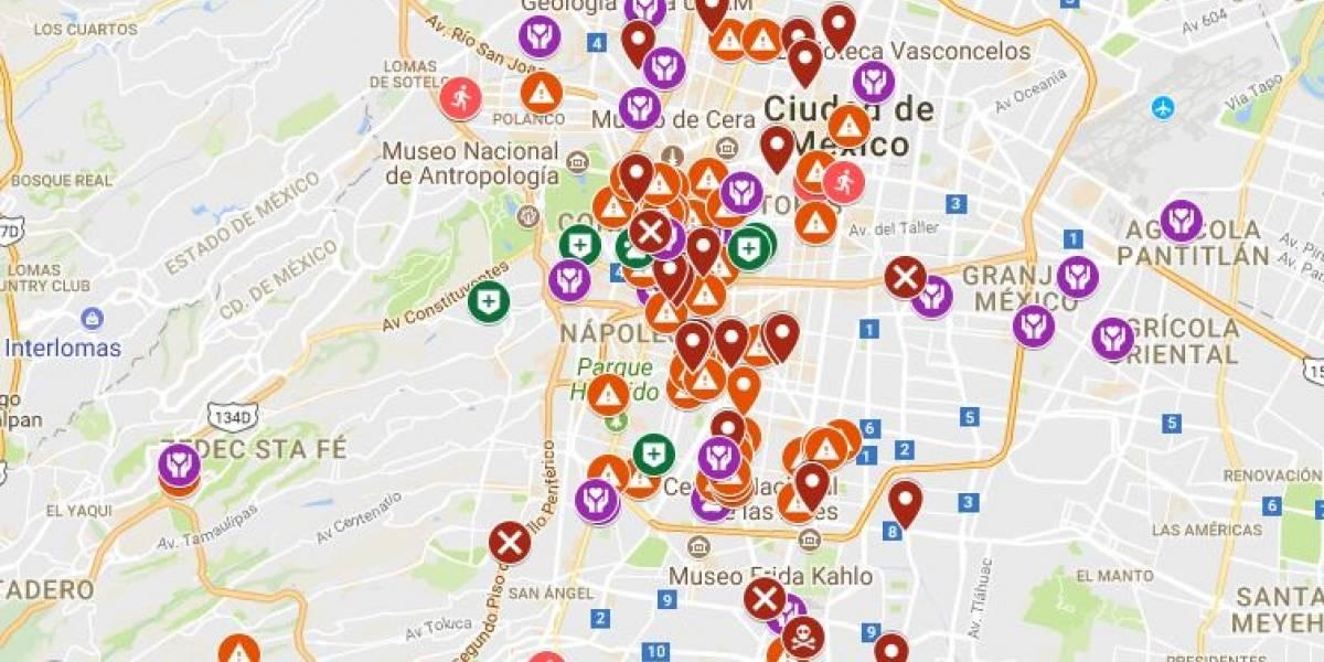 Mapa. Cómo y dónde ayudar en la CDMX en tiempo real