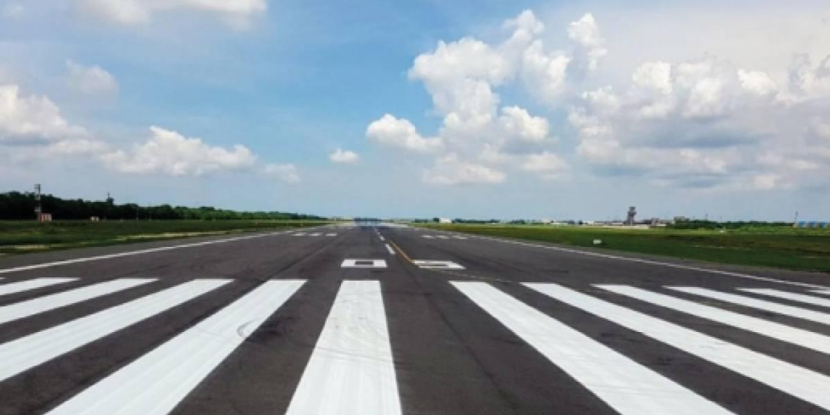 Terminó la repavimentación de la pista del Aeropuerto de Barranquilla