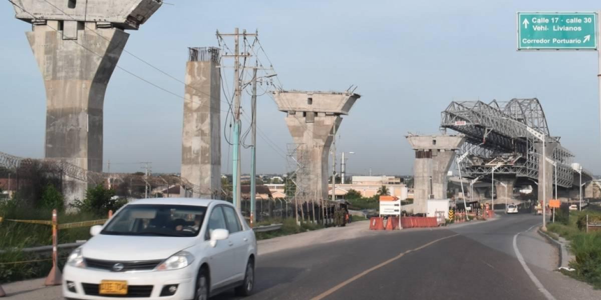 Denuncian retrasos en las obras del Puente Pumarejo en Barranquilla