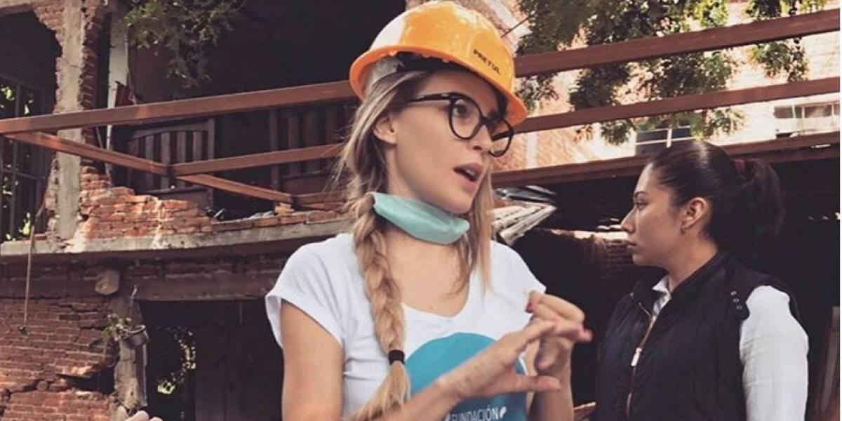 Belinda se compromete a reconstruir casas en Jojutla, con su fundación