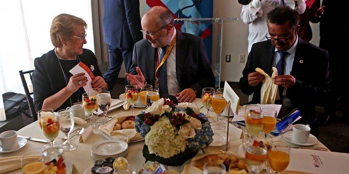 El sencillo desayuno que le ofrecieron a la Presidenta en importante evento en la ONU