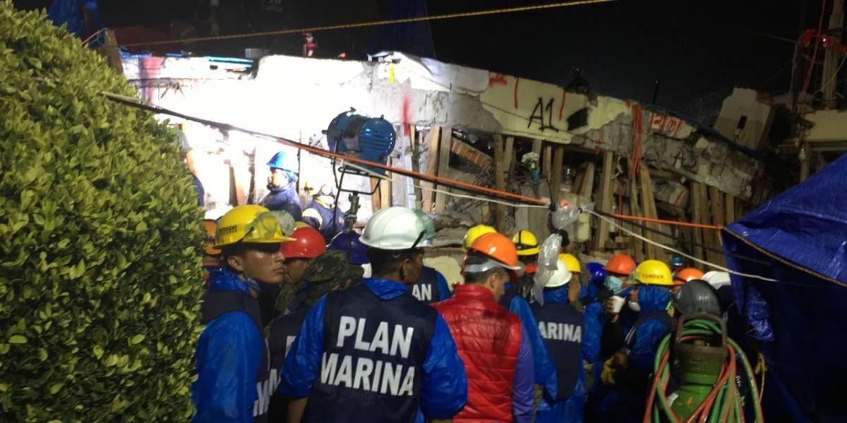Detienen rescate en Colegio Enrique Rébsamen por réplica del sismo