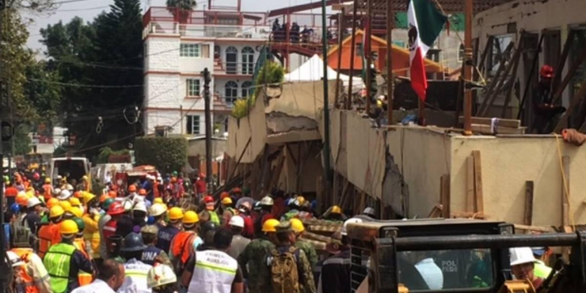 Terremoto en México: Redoblan esfuerzos para rescatar a niña en escuela derrumbada