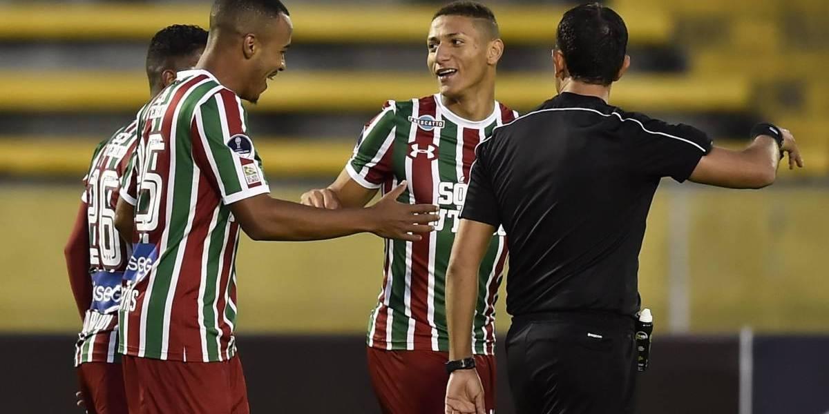 Pedro Abad de Fluminense lloró al eliminar a Liga de Quito