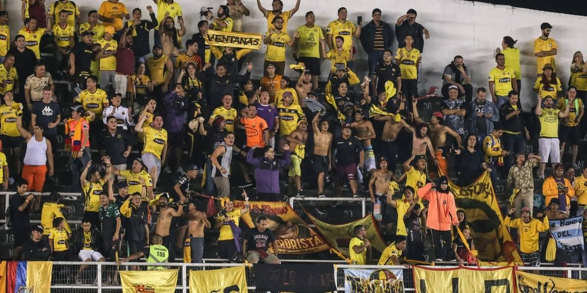 Celebración de Barcelona SC ante Santos