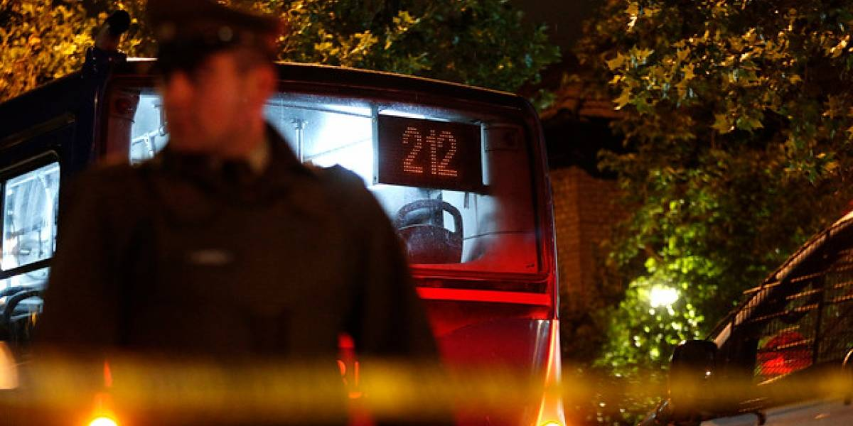 Asaltantes matan a adolescente a bordo de bus del Transantiago en La Florida
