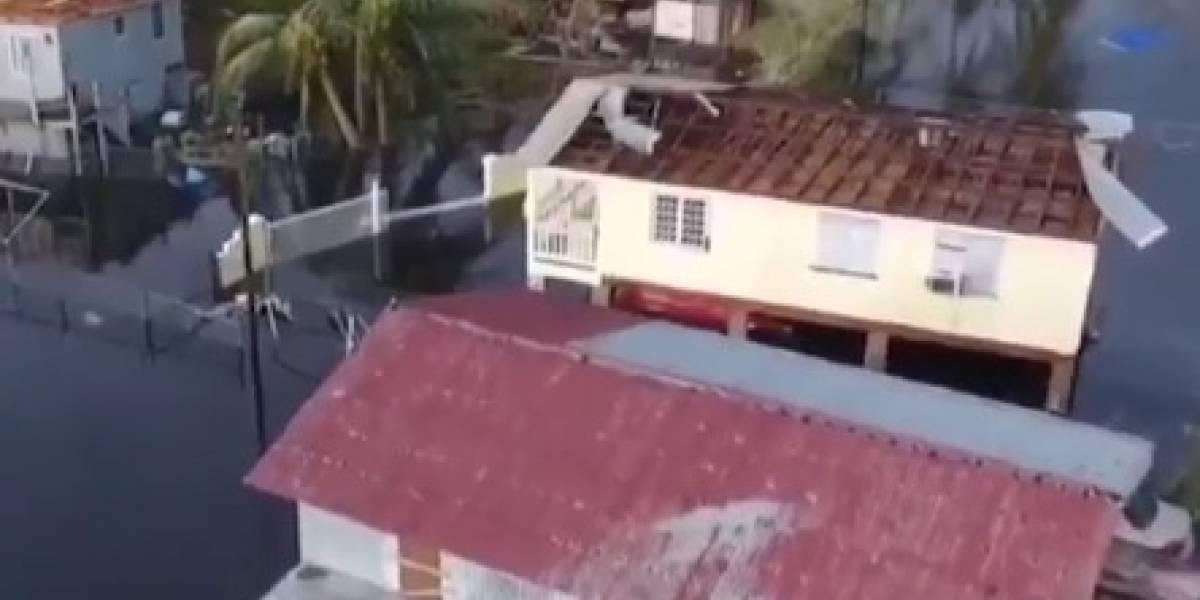 Dron muestra a Cataño bajo el agua