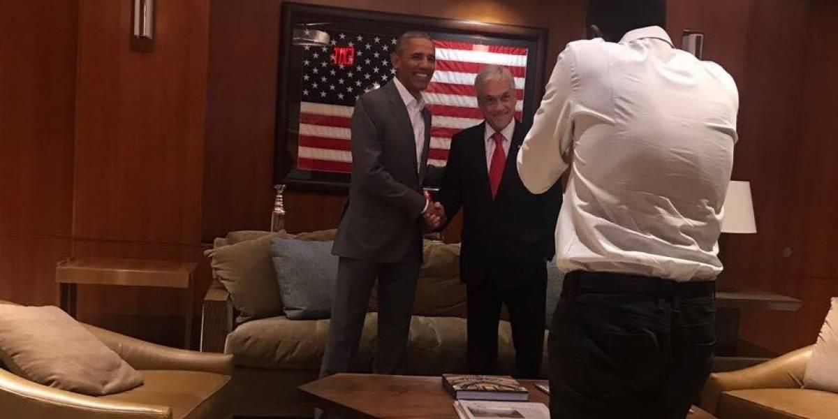 Encuentro de ex presidentes: Piñera se reúne con Obama para conversar de Venezuela y cambio climático