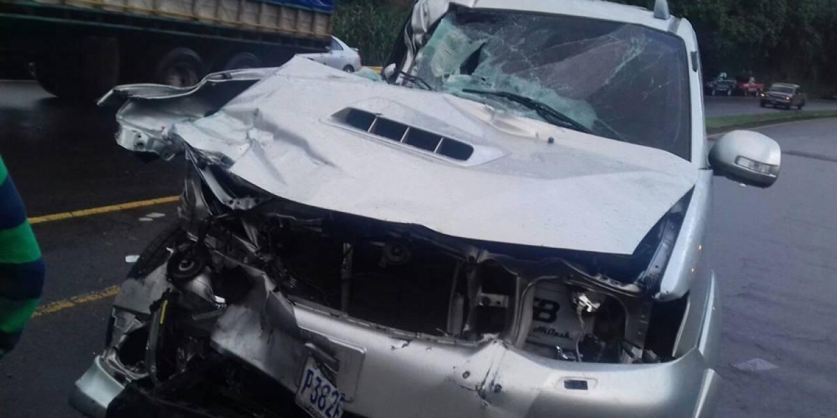 Diputado Joel Bámaca de partido UNE sufre grave accidente automovilístico