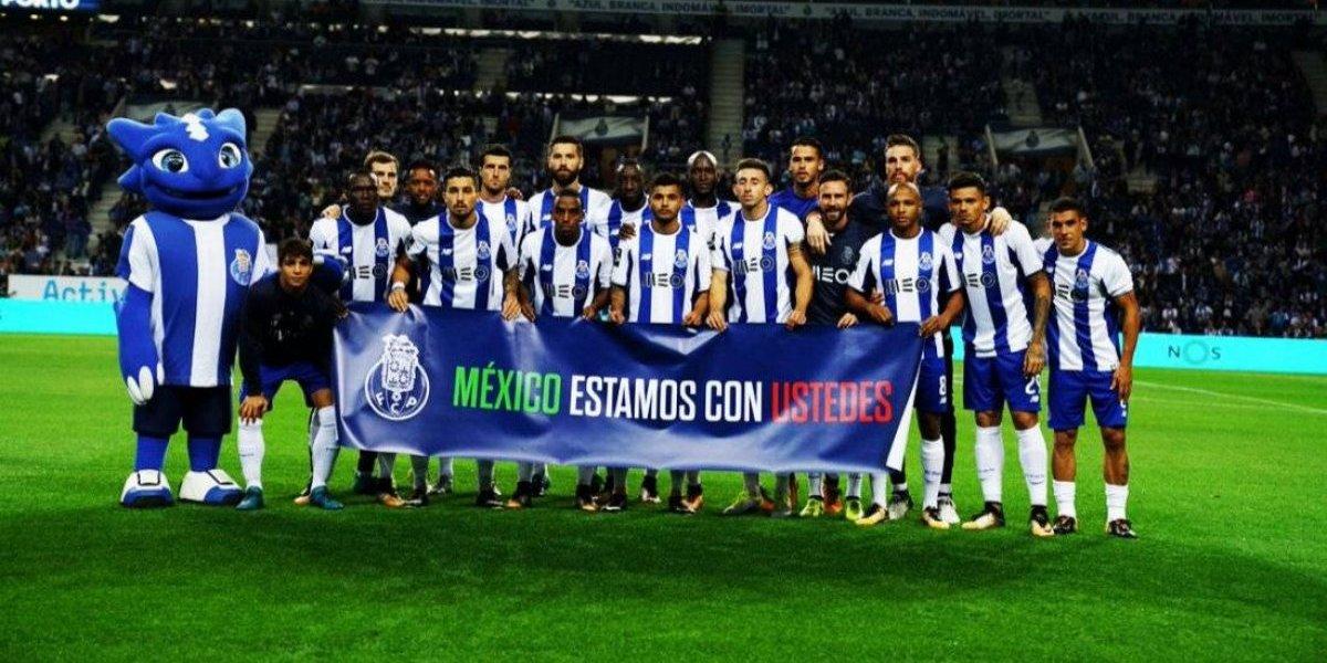 Porto muestra su apoyo a México desde Portugal