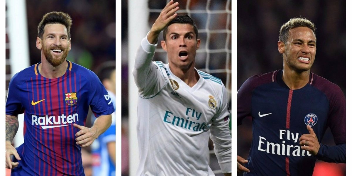 CR7, Messi y Neymar, finalistas para ganar The Best