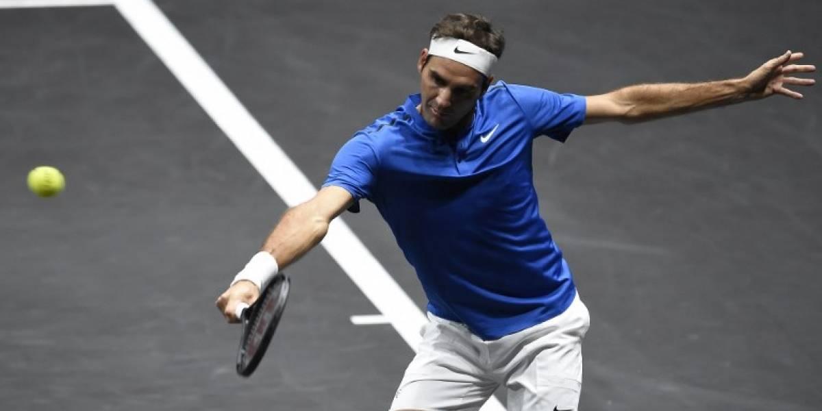 Roger Federer vence y amplía la ventaja para Europa en la Copa Laver