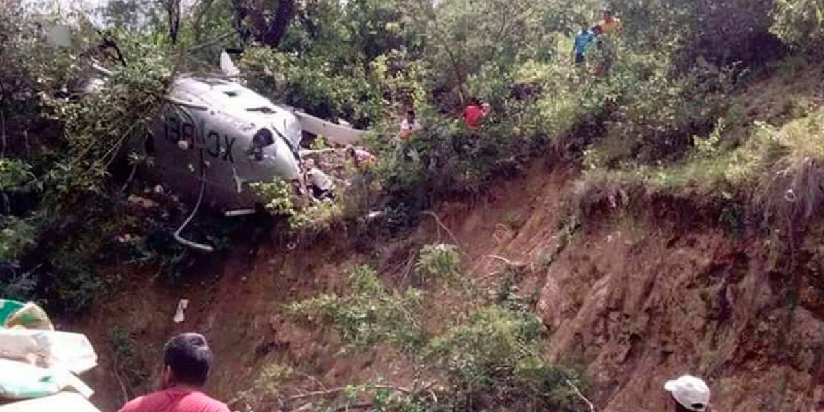 México: Se estrelló un helicóptero con ayuda para damnificados