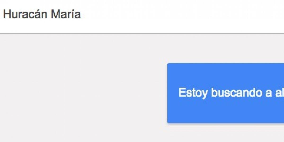 Pueden usar Google Person Finder para buscar conocidos