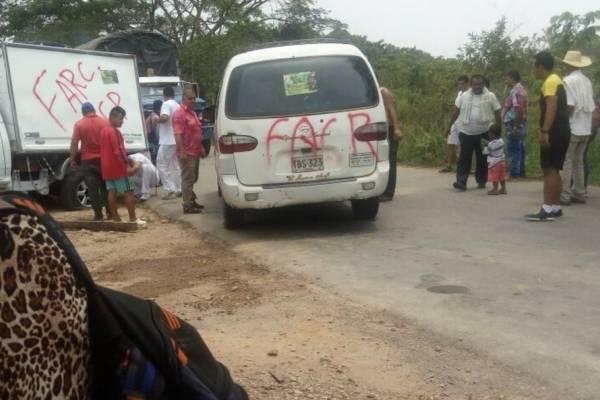 Retén de disidentes de las Farc en Cartagena del Chairá