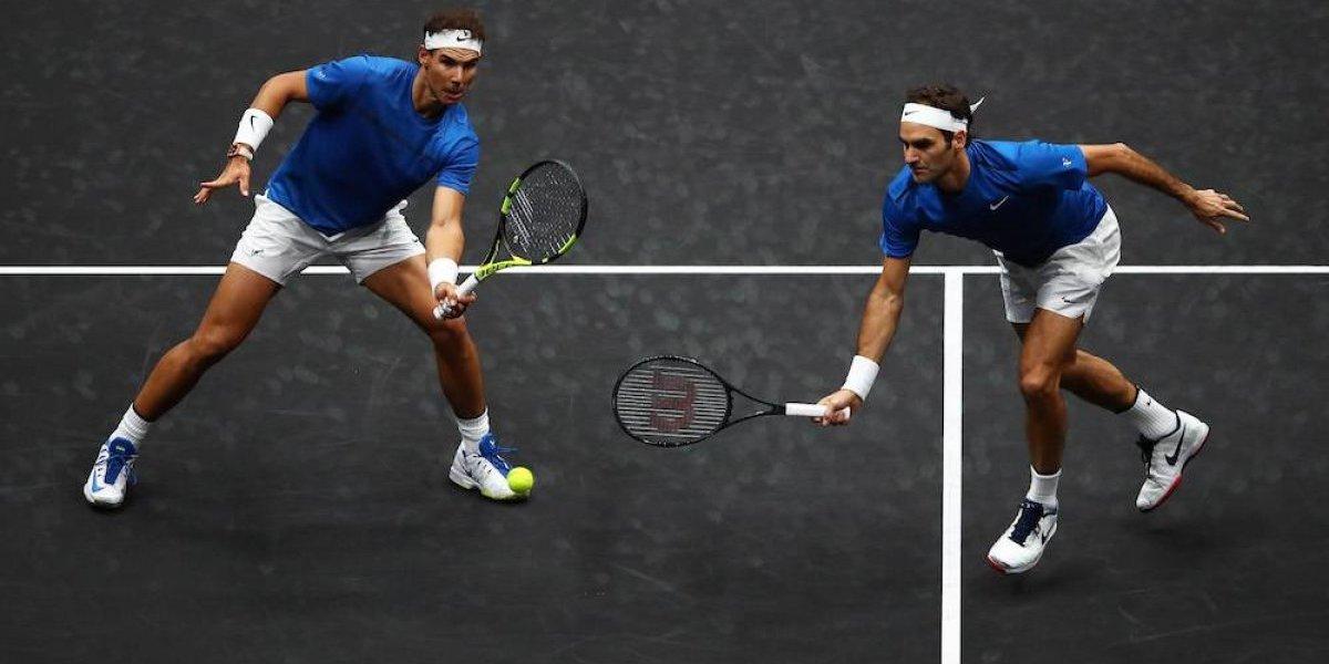 VIDEO: Nadal y Federer unieron fuerzas para ganar su primer partido de dobles