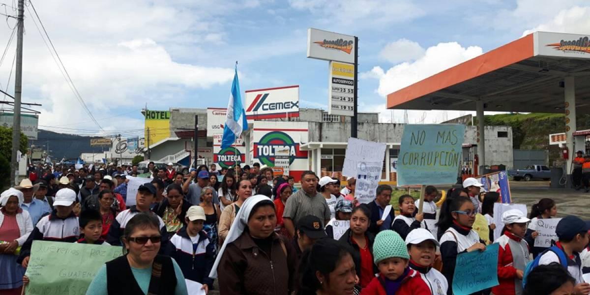Católicos de San Marcos salen a manifestar en contra de la impunidad