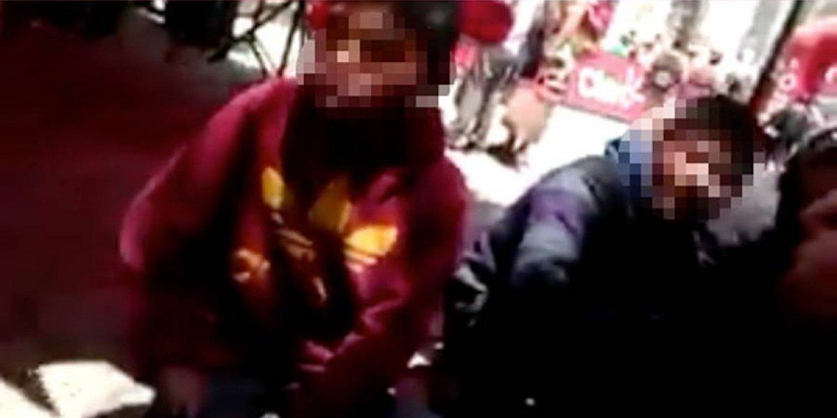 VIDEO. ¿Policías municipales de Tecpán piden ornato a niños lustradores?