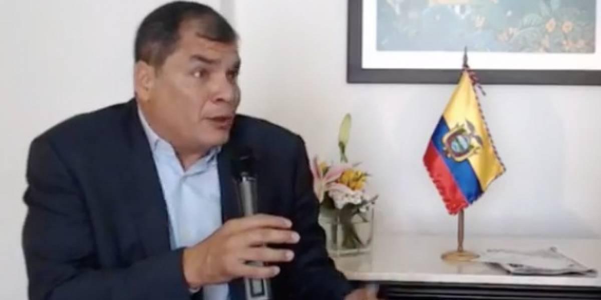 Correa explicó por qué existía cámara en despacho de Moreno