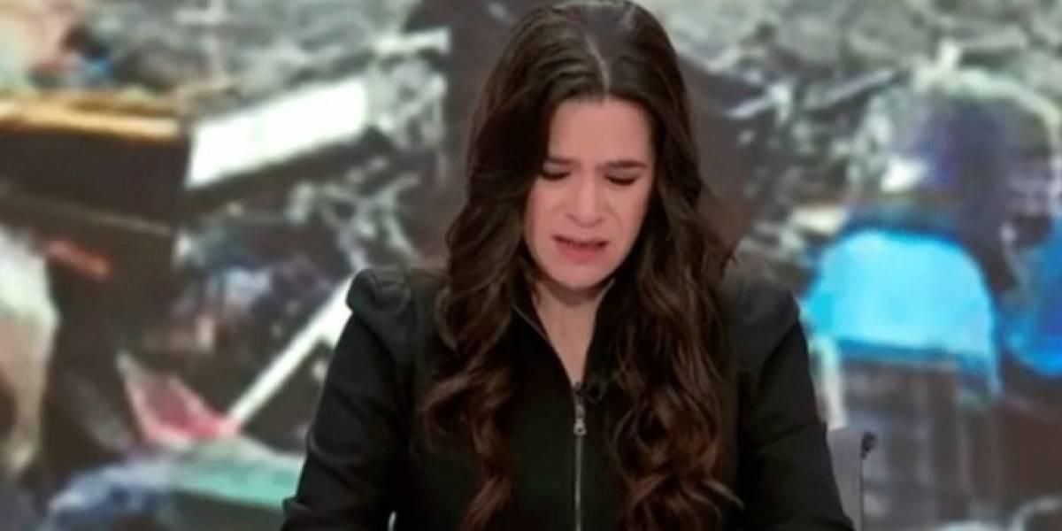 Presentadora lloró en vivo por muerte de amiga en terremoto
