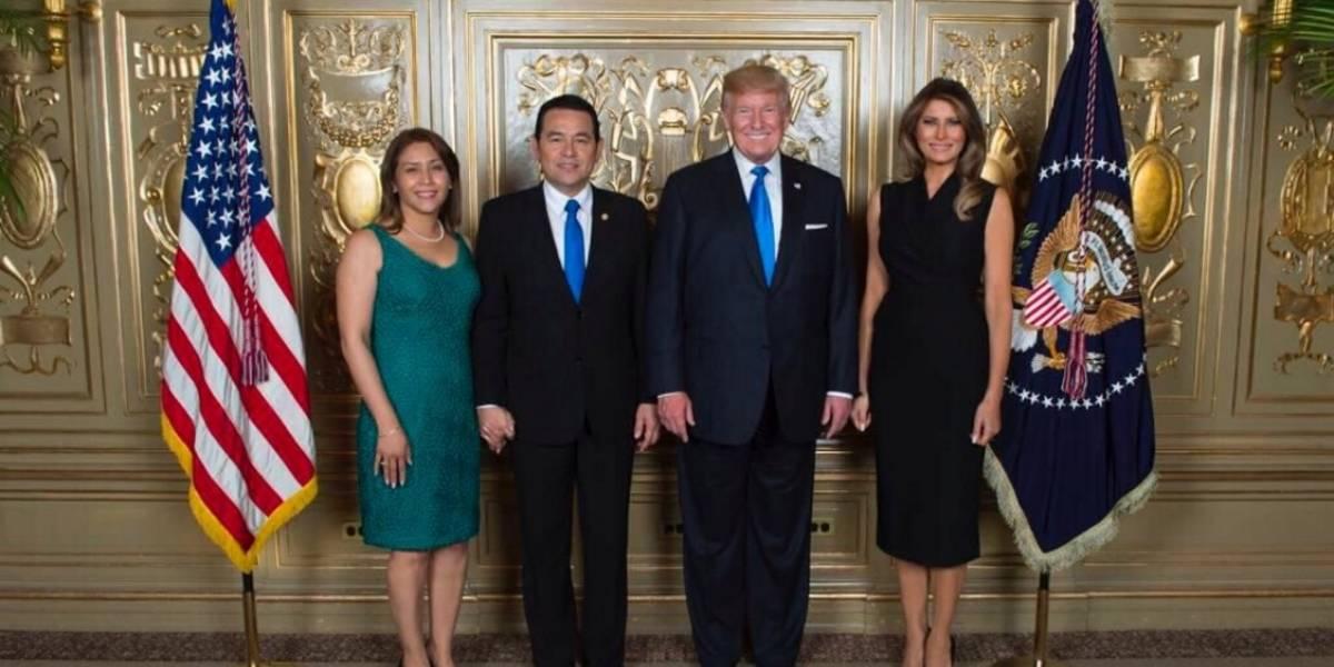 Con una foto de Morales y Trump el gobierno le agradece respaldo de Estados Unidos