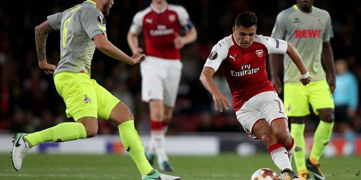 Cuándo y a qué hora juega Alexis y su Arsenal en la Europa League