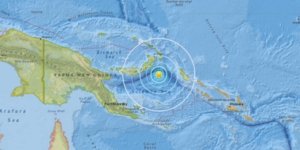 Sismo de magnitud 6,0 se produce cerca de Papúa Nueva Guinea
