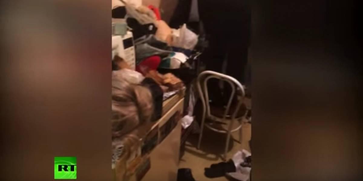 Las terroríficas imágenes del apartamento de la 'pareja caníbal' rusa