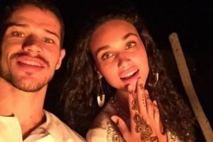 Débora Nascimento e José Loreto aparecem nus em foto no Instagram