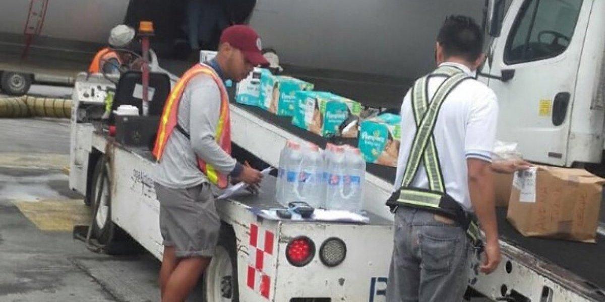 Copa Airlines trae ayuda humanitaria a la isla