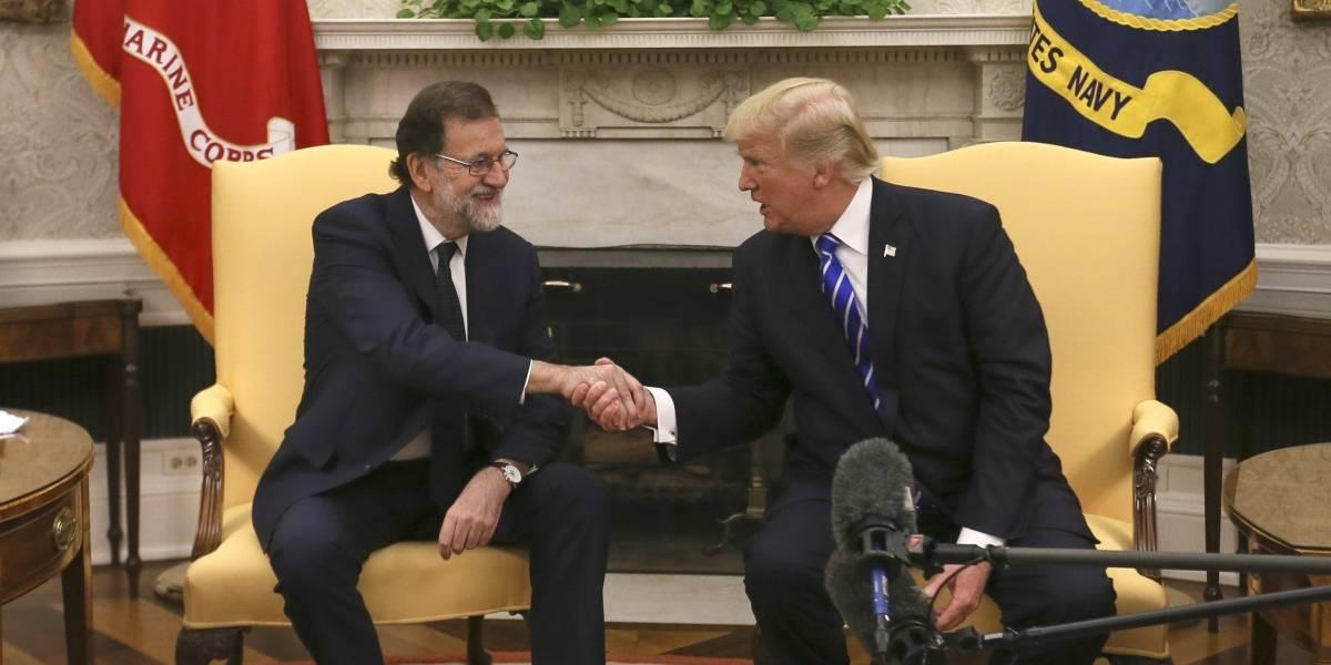 Donald Trump da bienvenida a Mariano Rajoy