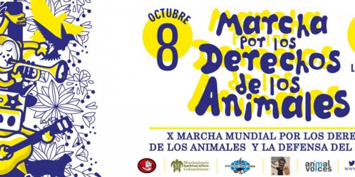El 8 de octubre se realizará la gran marcha por los derechos de los animales en Bogotá