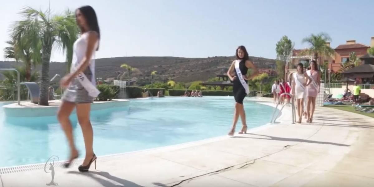 Video: La caída de una candidata a Miss España