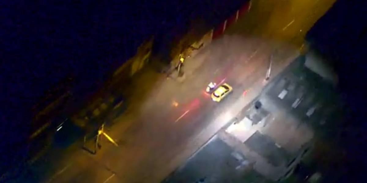 Video: Así fue como lograron la captura de taxista tras apuntar con un láser a un helicóptero
