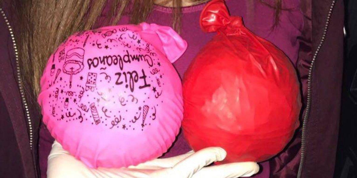 Niña de 14 años de Iquique fue detenida por portar dos globos: estaban rellenos con 1 kilo de pasta base