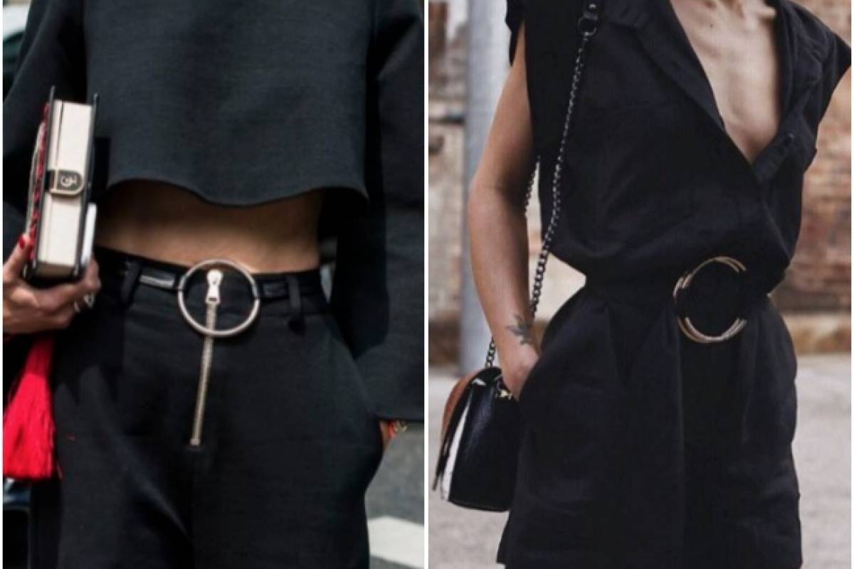 Cinturón con argollas  la tendencia de moda para esta temporada ... fa500bf01224