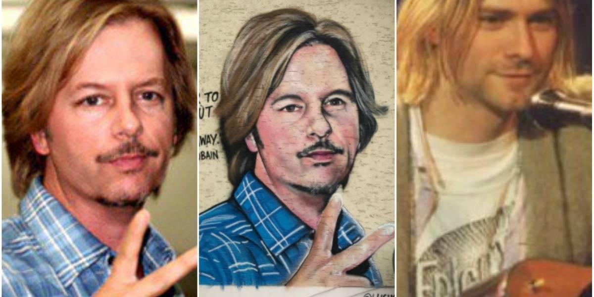 """¿El peor mural de Kurt Cobain? El insólito """"tributo"""" en Austria que se parece más a un actor norteamericano"""