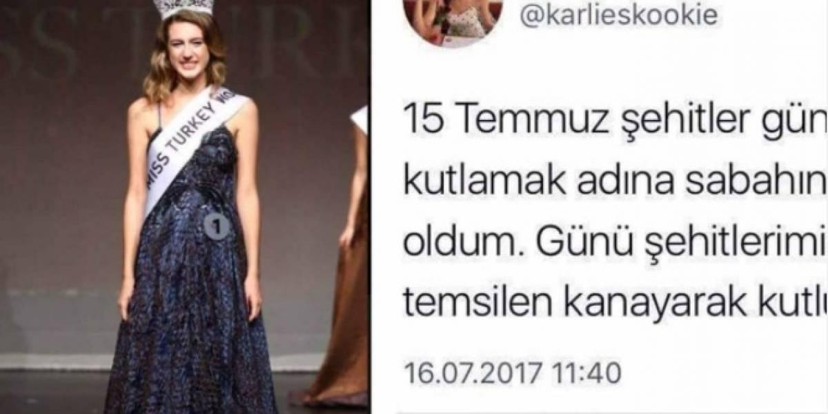 """Miss Turquía perdió la corona por un tuit """"inaceptable"""" sobre la menstruación"""