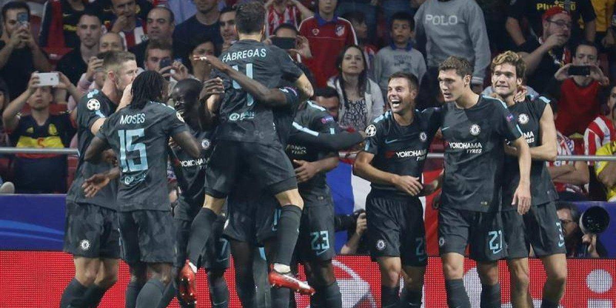 Chelsea le ganó a ultima hora a Atlético de Madrid y lo hunde en la Champions