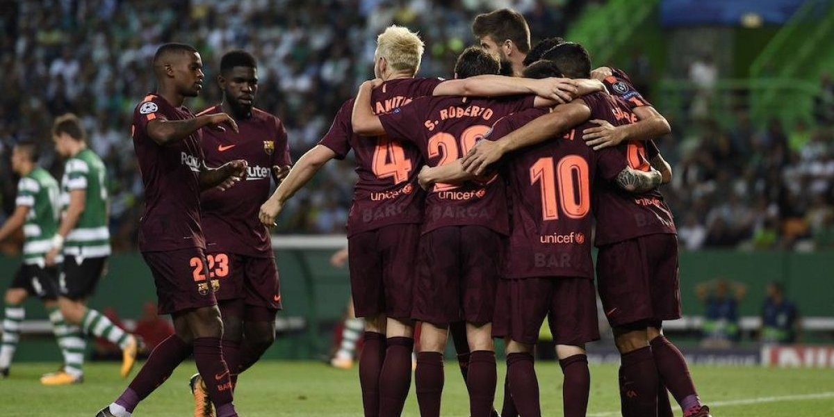 Barcelona mantiene su gran paso en Europa al derrotar al Sporting Lisboa