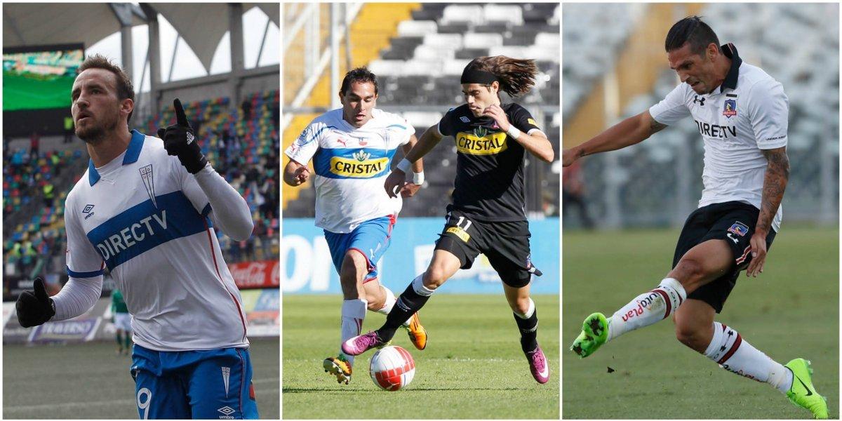 """Barticciotto, Rozental, Mark González y Sapito Livingstone: los 46 """"Cruzalbos"""" que jugaron en Colo Colo y la UC"""