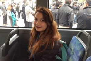 Geraldine Muñoz (20) usuaria del Transantiago