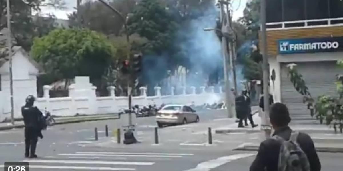 ¡Atención! Protestas y disturbios en la Universidad Pedagógica afectan la movilidad en el norte de Bogotá