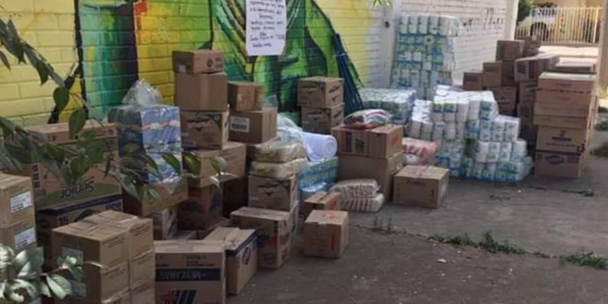 FOTOS. Supuestos narcos dejan cuantioso donativo para víctimas del terremoto en México