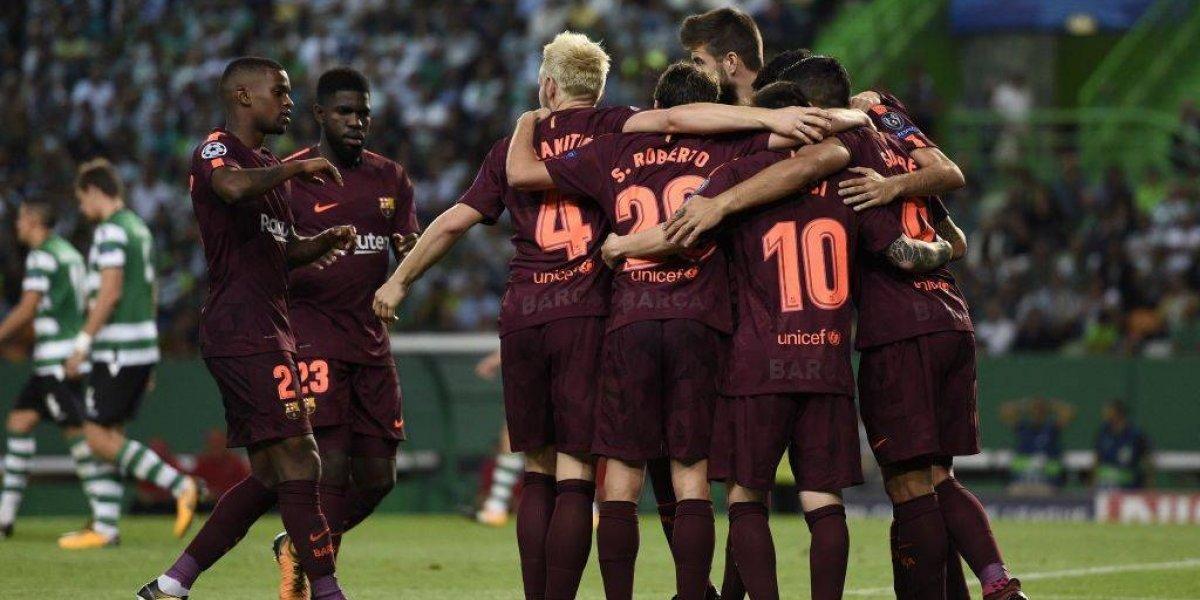 Barcelona sufrió para ganar su segundo partido en Champions League