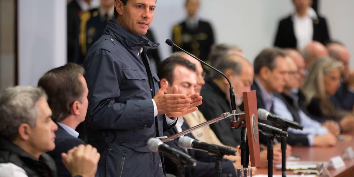Reconstrucción por sismos costará más de 38 mil mdp: Peña Nieto