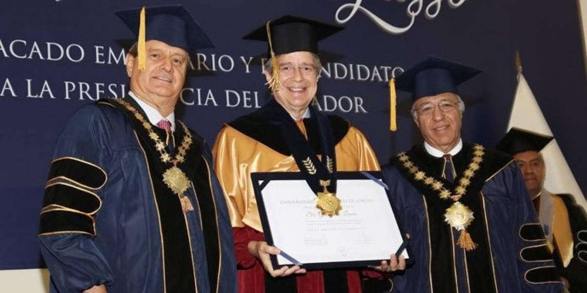 Guillermo Lasso recibe doctorado Honoris Causa