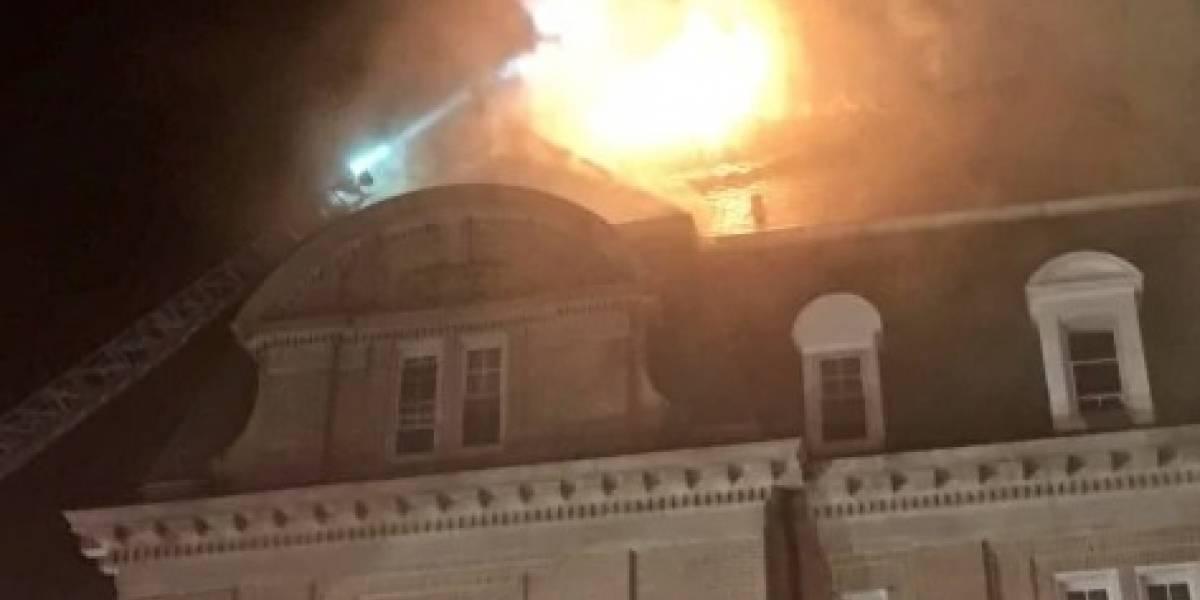 Embajada de Ecuador en EE.UU. se incendió
