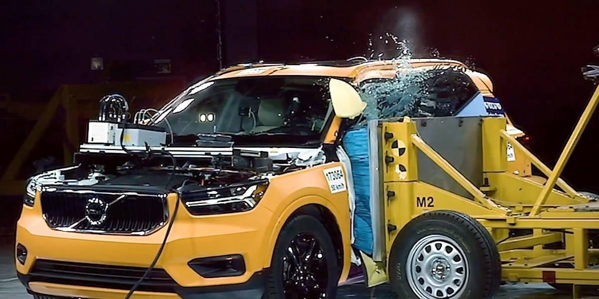 Mira la dura prueba de seguridad al Volvo XC40